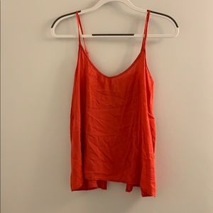 Flowy tank top with button up back
